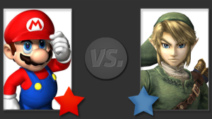 Mario Vs Link on the Nintendo